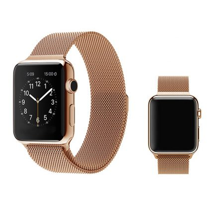 milanese apple watch band rose gold