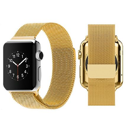 apple milanese band gold