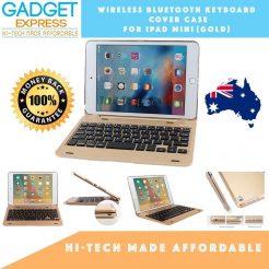 best ipad mini 1/2/3 wireless bluetooth keyboard gold cover case