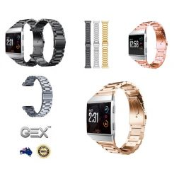 Solid Stainless Steel Metal all Strap Band Fitbit Ionic