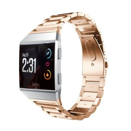 rose gold band fitbit stainless steel