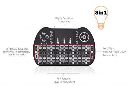 quality backlit android keyboard remote smart tv iptv pc google
