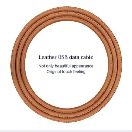 Onsale PU leather USB data sync cable charger cord iphone