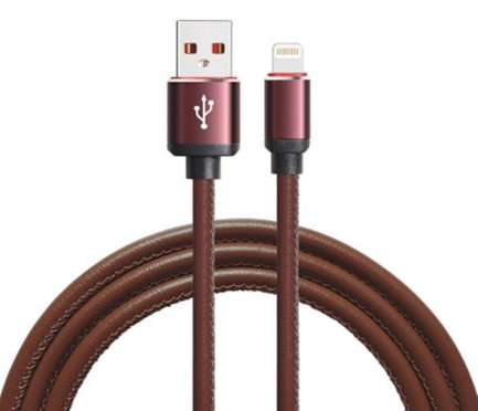 best deal PU leather USB data sync cable charger cord iphone 6s x 7 8 plus