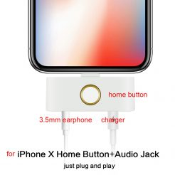 iPhone X External Home Button Audio Jack and Charging Port