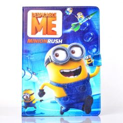 best price Minion rush leather case ipad mini 1/2/3 Air 2 Pro