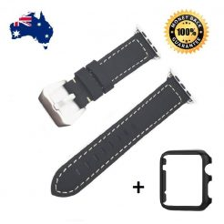 best buy 38 42mm leather wrist band strap apple iwatch 123 case