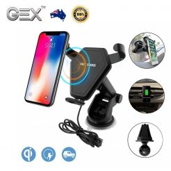 best price iPhone X 8 Samsung S8 S9 Note 8 New Qi Wireless Car Charger Holder