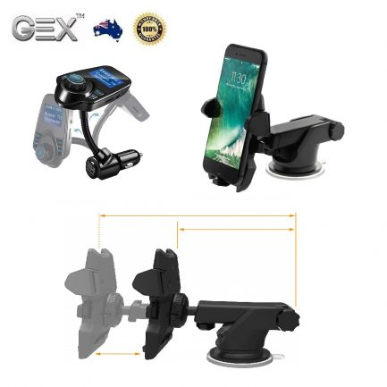best price Car Fast Charger Bluetooth Transmitter Holder Kit For iPhone Samsung