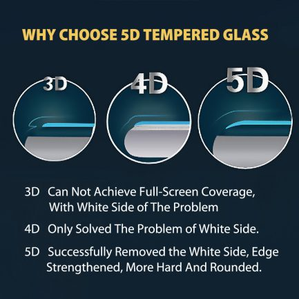 iphone x 5d tempered glass