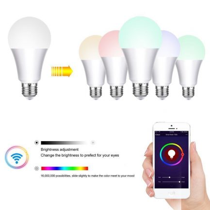 best Wireless Color Dimmable RGBW 7W E27