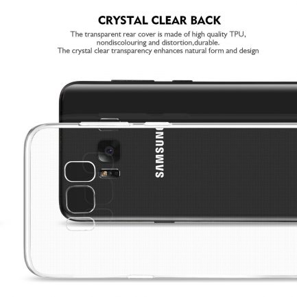 tpu transparent rear samsung case