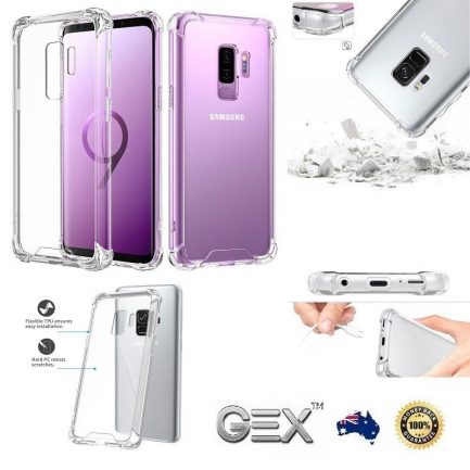best price Samsung Galaxy S9 S8 S9+ Rugged Soft Edge Hard Back Clear Case