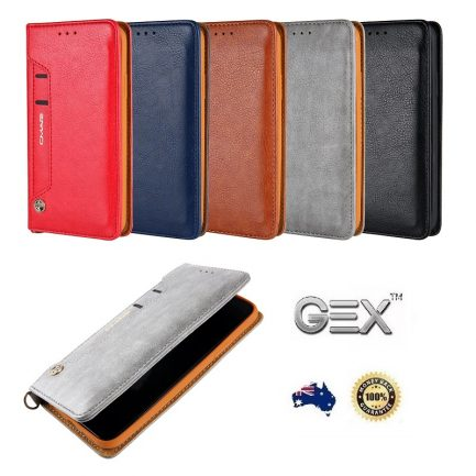 New Apple iPhone X XS Leather Flip Case Wallet Cover Stand