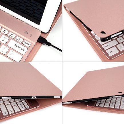 ipad keyboard case aluminum pu leather