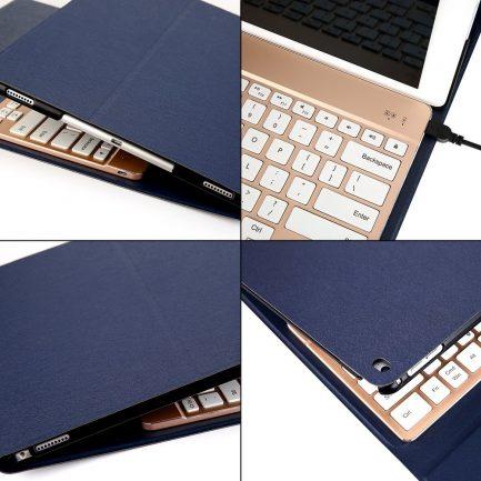 Charging keyboard case for ipad