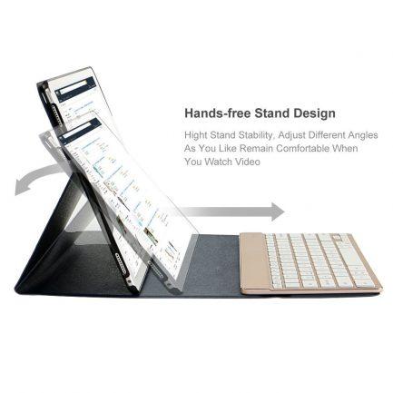 Adjustable bluetooth ipad keyboard case