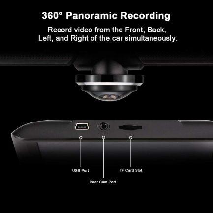 car dash cam g sensor panaromic