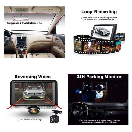 car dash cam footage loop recording