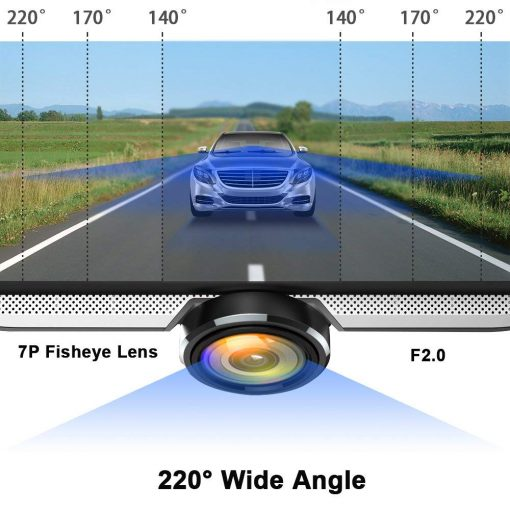 extreme wide angle car dash cam
