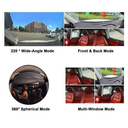 car dash cam front rear all angle