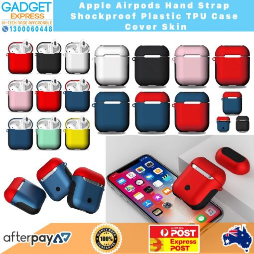 Apple Airpods Hand Strap Shockproof Plastic TPU Case Cover Skin