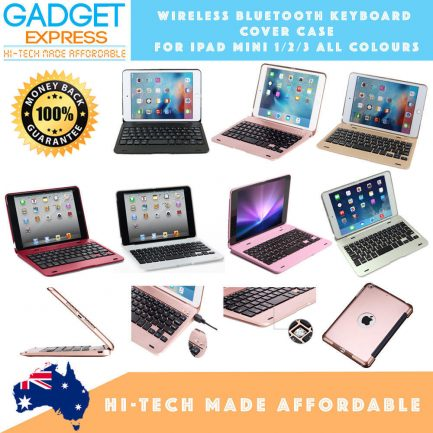 New iPad Mini 4 Wireless Bluetooth Keyboard Cover Case & Glass