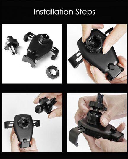 adjustible phone holder iphone samsung vent