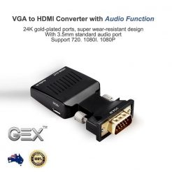 best price VGA to HDMI Male to Female Video Adapter Cable Converter with Audio